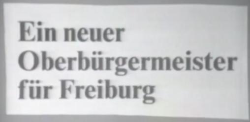 Ein neuer OB für Freiburg