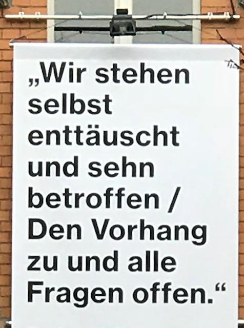 """Brecht Zitat """"Wir stehen selbst enttäuscht..."""""""